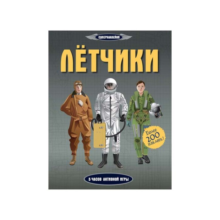 Книжка с наклейками «Лётчики». Мартин Д.
