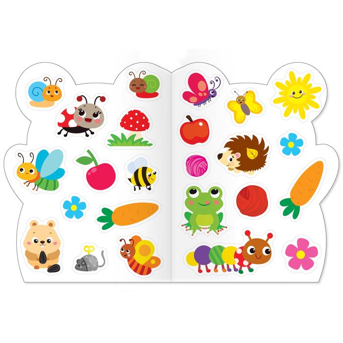 Раскраска с наклейками «Мышонок и весёлые друзья»