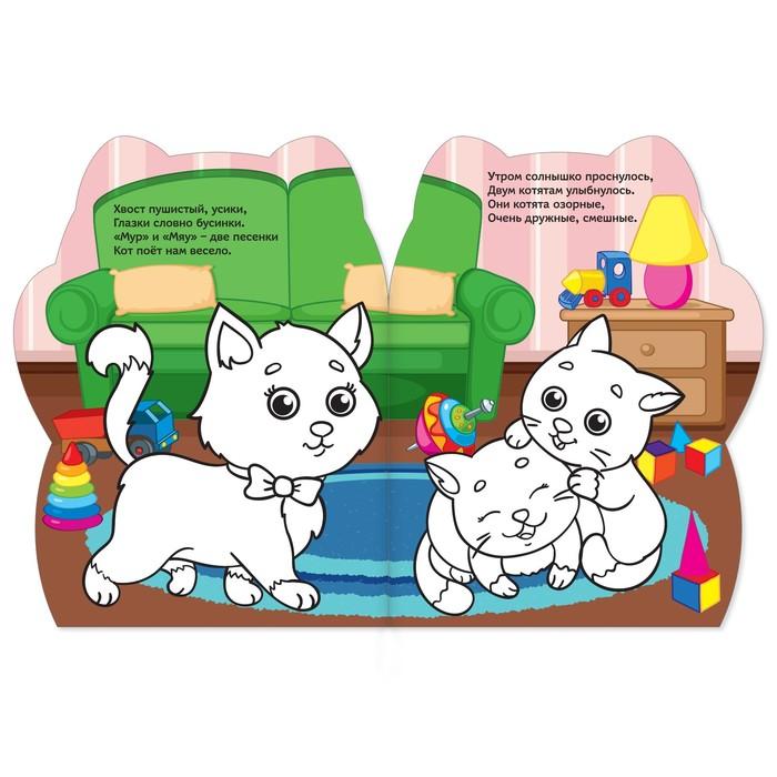 Раскраски с наклейками набор «Котёнок и свинка», 2 шт. по 12 стр.