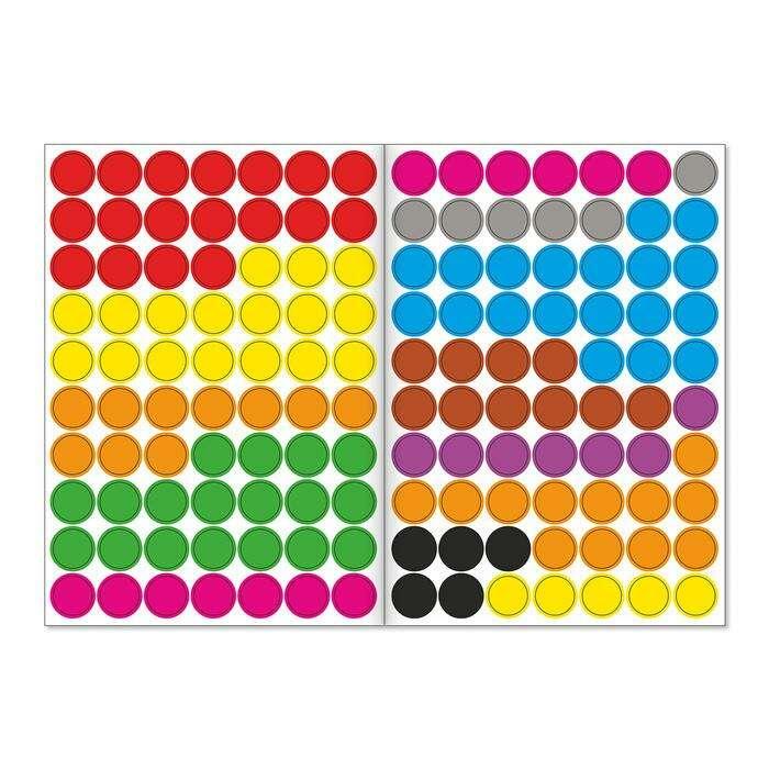 Наклейки «Весёлые кружочки. Изучаем цвета», формат А4, 16 стр.