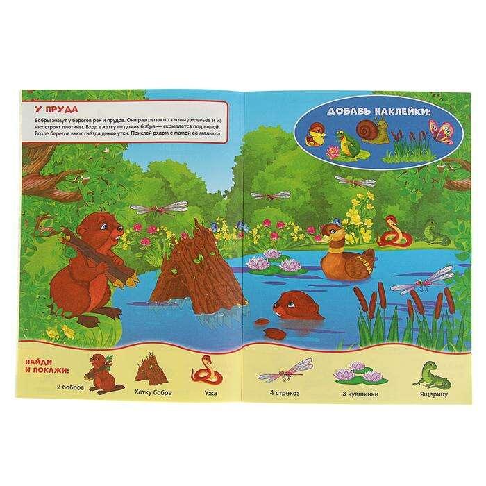 """Найди и покажи """"Лесные животные"""", 50 наклеек. Развиваем внимание и учимся считать"""
