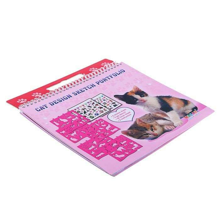 Альбом для творчества «Котята», с наклейками и трафаретами