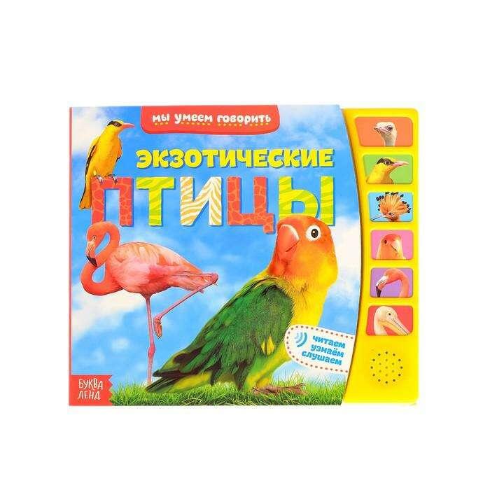 """Книга с музыкальным чипом """"Экзотические птицы"""", 21 х 21 см """"Экзотические птицы"""", 21 х 21 см"""