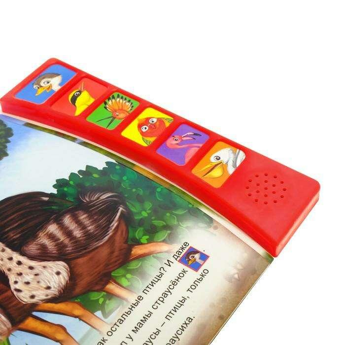 """Книга с музыкальным чипом «Страусёнок», 21 х 21 см """"Страусенок"""", 21 х 21 см"""