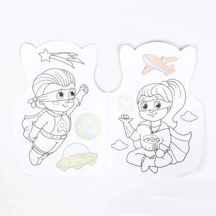 Раскраска с наклейками «Супер герои»