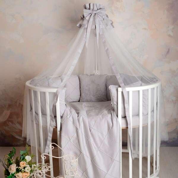 Комплект в кроватку Patrino Карета светло - серый