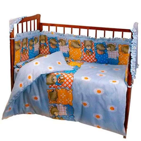 Комплект в кроватку Patrino 1001 без балдахина голубой