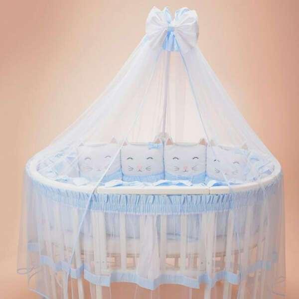 Комплект в кроватку Patrino Друзья голубой
