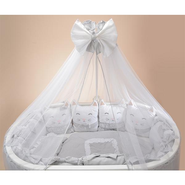 Комплект в кроватку Patrino Друзья серый