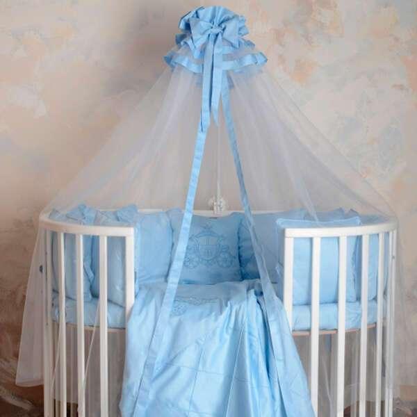 Комплект в кроватку Patrino Карета голубой