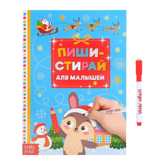 Многоразовая книжка «Пиши-стирай. Для малышей», 12 стр.