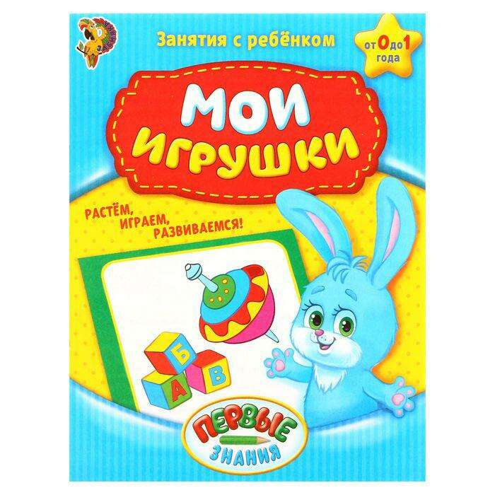 Обучающая книга «Мои игрушки», 16 страниц