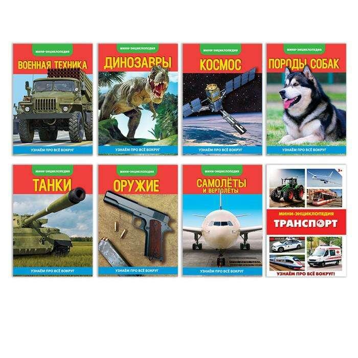 Мини-энциклопедии набор «Для мальчиков», 8 шт. «Для мальчиков», 8 шт по 10 страниц