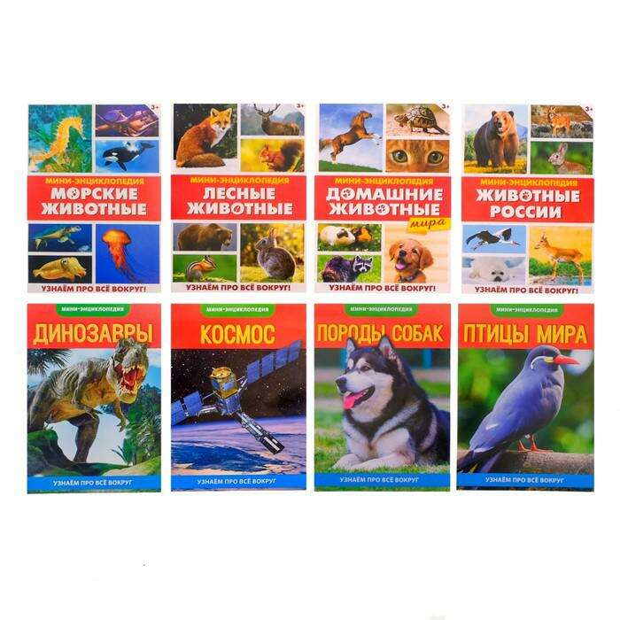 Мини-энциклопедии набор «Узнаем про все вокруг №2» по 20 стр.