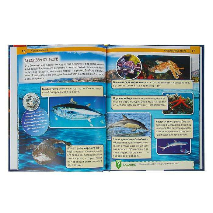 Энциклопедия с развивающими заданиями «Моря и океаны»