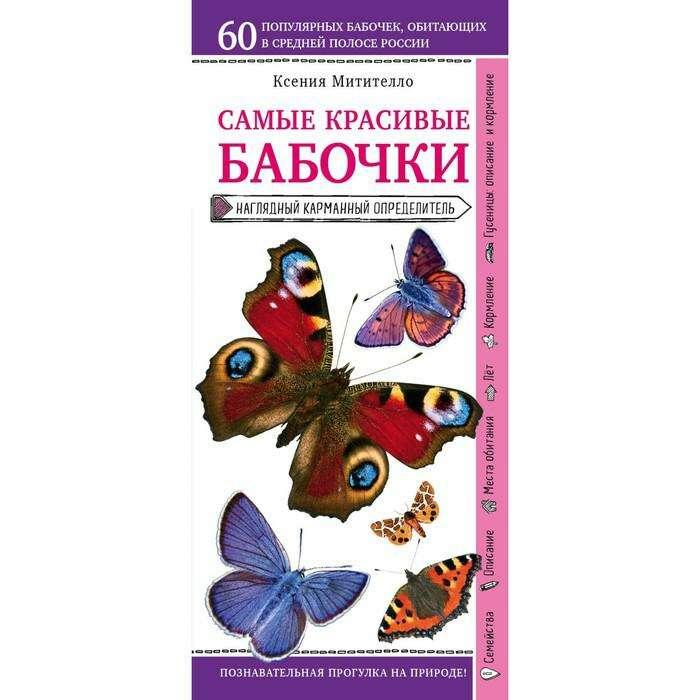 Бабочки. Наглядный карманный определитель. Митителло К.Б.