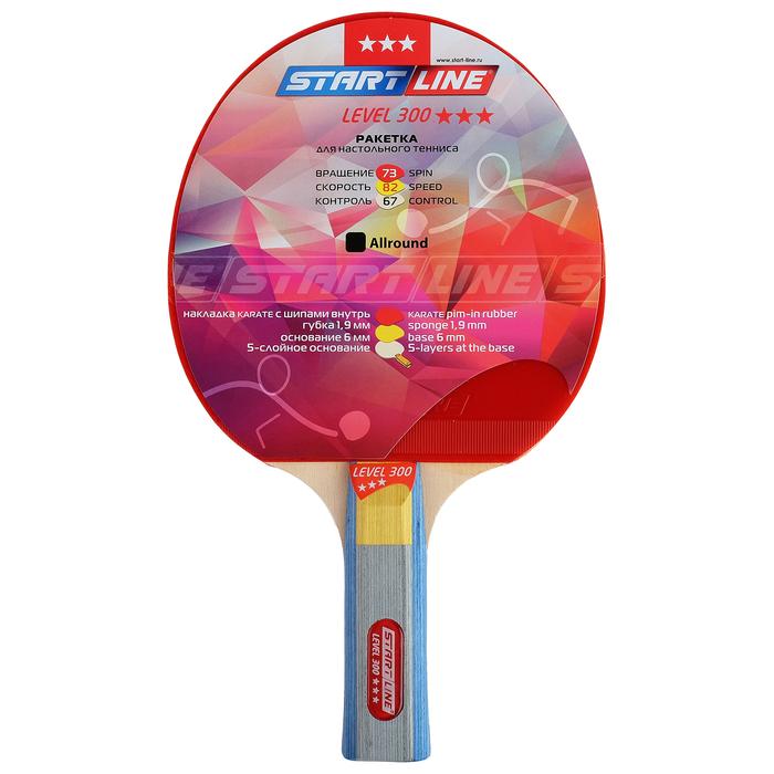 Ракетка для настольного тенниса Start line Level 300 с анатомической ручкой