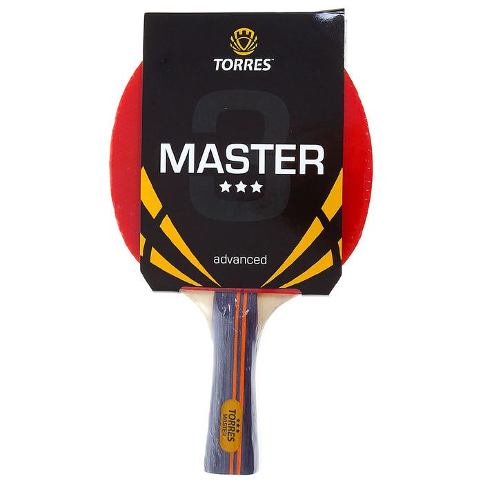 Ракетка для настольного тенниса Torres Master, 3 звезды, для тренировок, накладка 2,0 мм