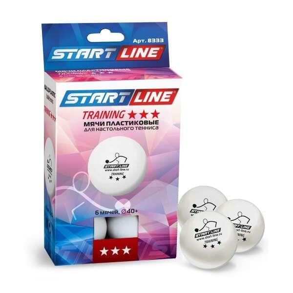 Теннисные мячи Start line Training 3* (белые*6 шт/23-123)
