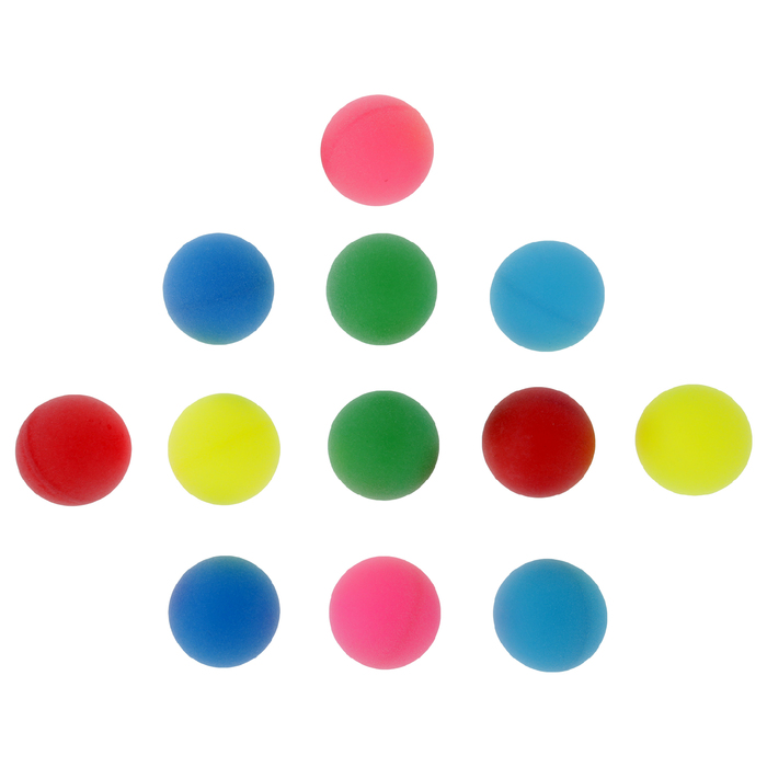 Мяч для настольного тенниса 40 мм (набор 12 шт), цвета микс