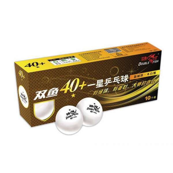 Мячи для настольного тенниса Double Fish 40 + , белые (А201F)