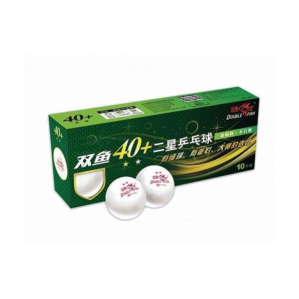 Мячи для настольного тенниса Double Fish 40+ , белые (A211F)