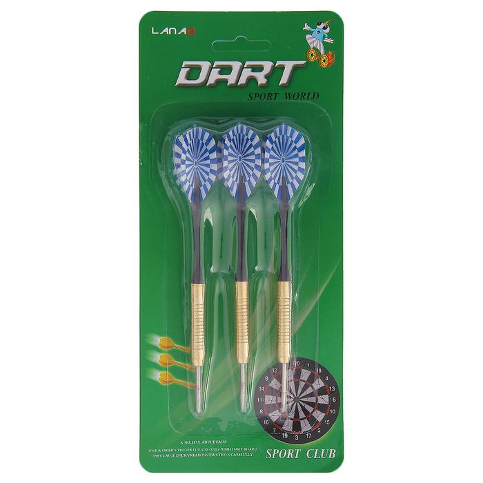 Стрелы для дартса (в наборе 3 штуки), на блистере