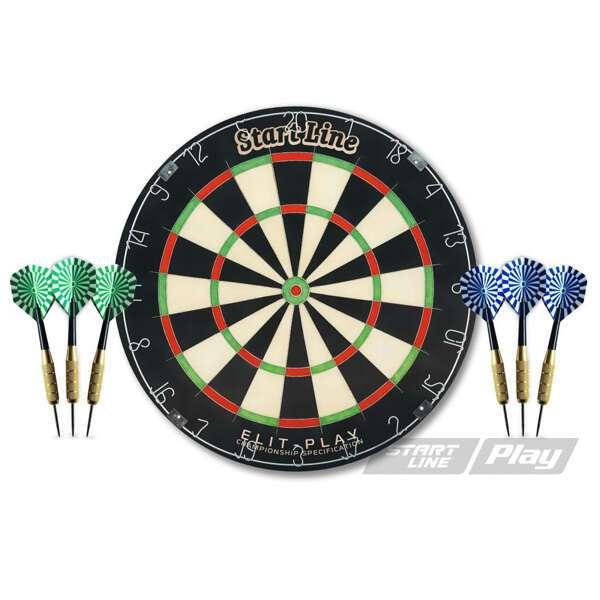 Комплект для игры в дартс StartLine  Play Elit-Play (BL-1818A)