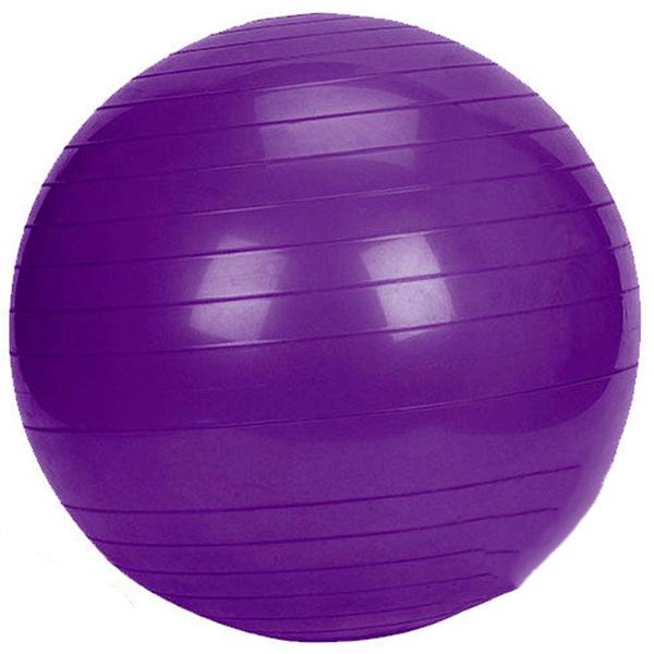 Фитбол 75см с насосом, фиолетовый FB75