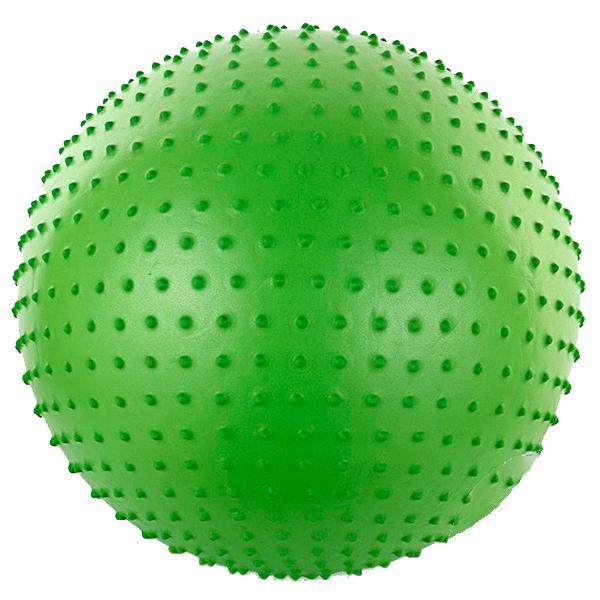 Фитбол массажный 75см с насосом, зеленый FBm75