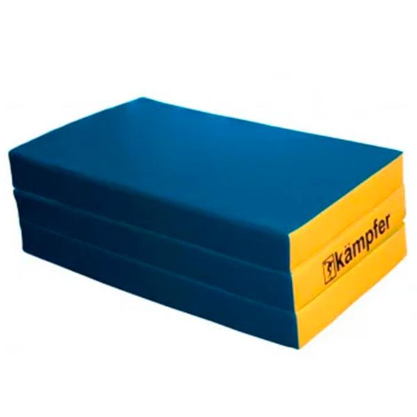 Гимнастический мат Kampfer №6 (150 х 100 х 10) складной синий/желтый