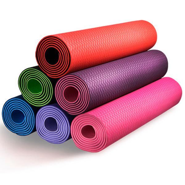 Коврики для йоги с чехлом TPE