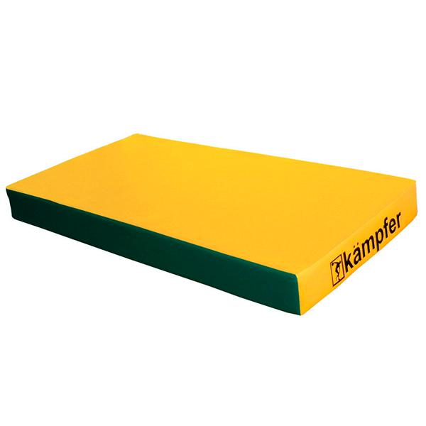 Гимнастический мат Kampfer №1 (100 х 50 х 10) зеленый/желтый