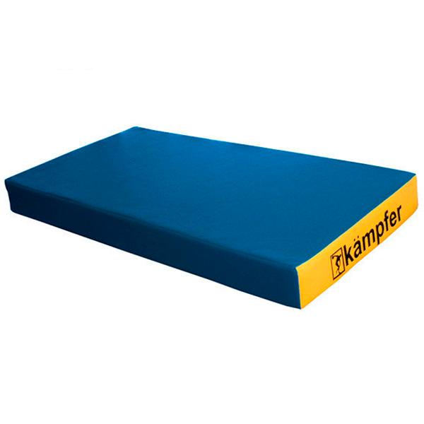Гимнастический мат Kampfer №1 (100 х 50 х 10) синий/желтый