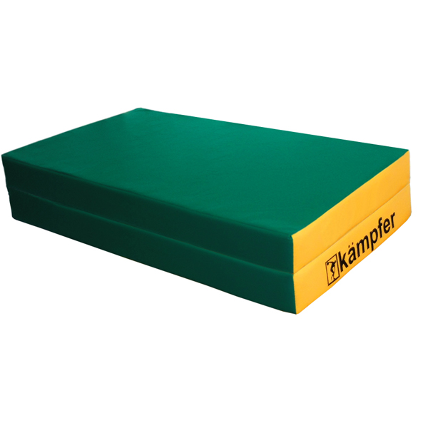 Гимнастический мат Kampfer №4 (100 х 100 х 10) складной №4 (100 х 100 х 10) складной зеленый/желтый