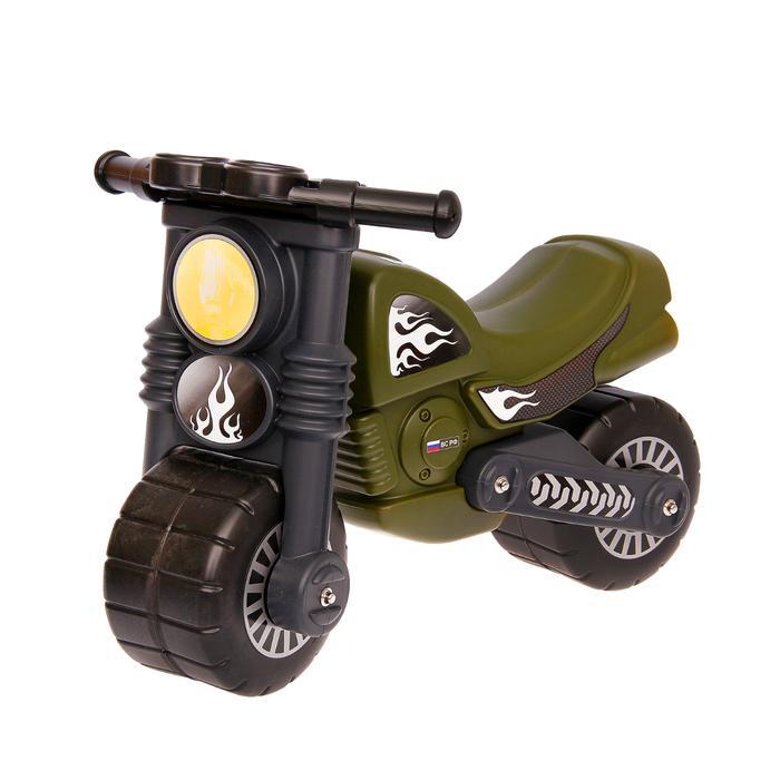 Толокар «Мотобайк» военный, цвет хаки