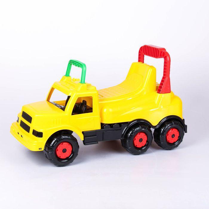 Толокар-машинка «Весёлые гонки», цвет жёлтый