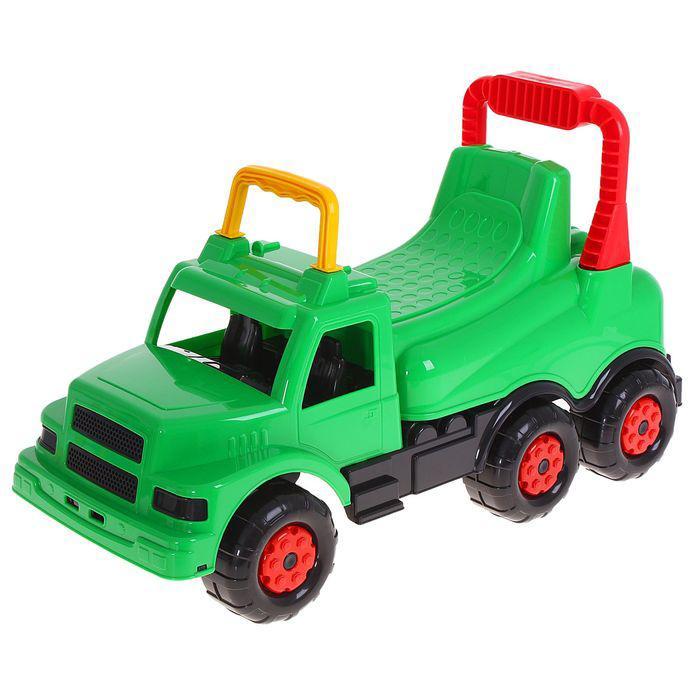 Толокар для мальчиков «Весёлые гонки», цвет зелёный