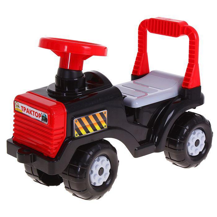 Машинка детская «Трактор», цвет чёрный