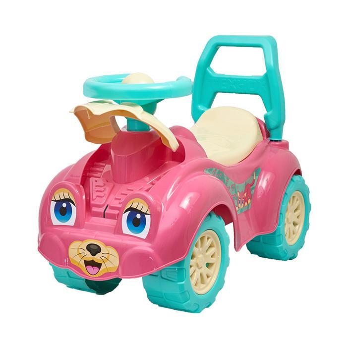 Толокар «Кошечка», с гудком-пищалкой, цвет розовый