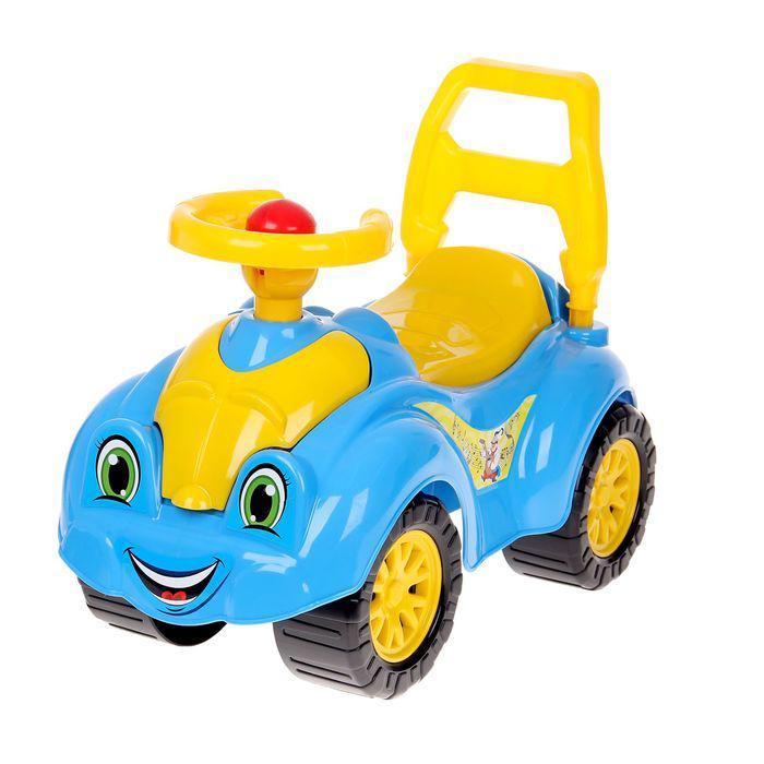 Автомобиль для прогулок, голубой, с гудком-пищалкой
