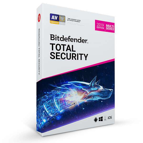 Антивирус Bitdefender Total Security на 12 месяцев, 5 устройств (Windows), ESD