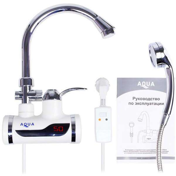 Кран-водонагреватель Aqua WH102W с душем
