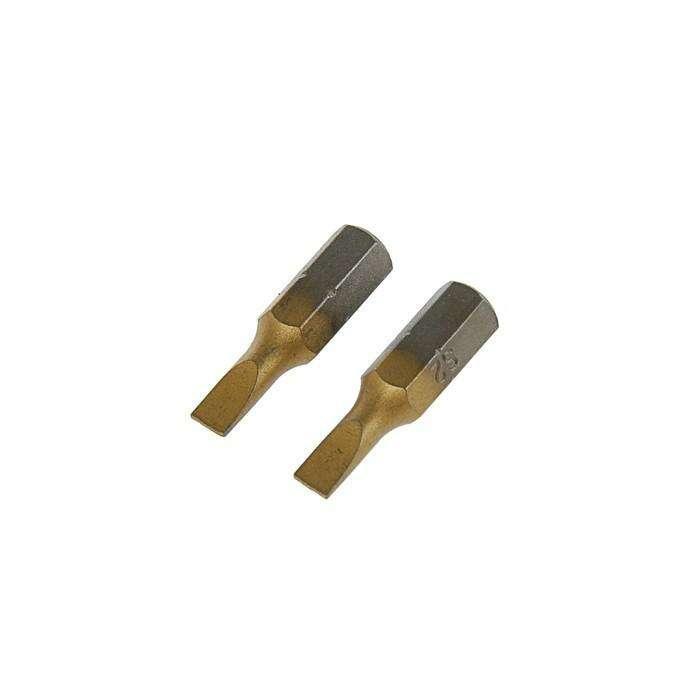 Набор бит TUNDRA premium, сталь S2, нитрид-титановое покрытие, 2 шт, 25 мм, SL4