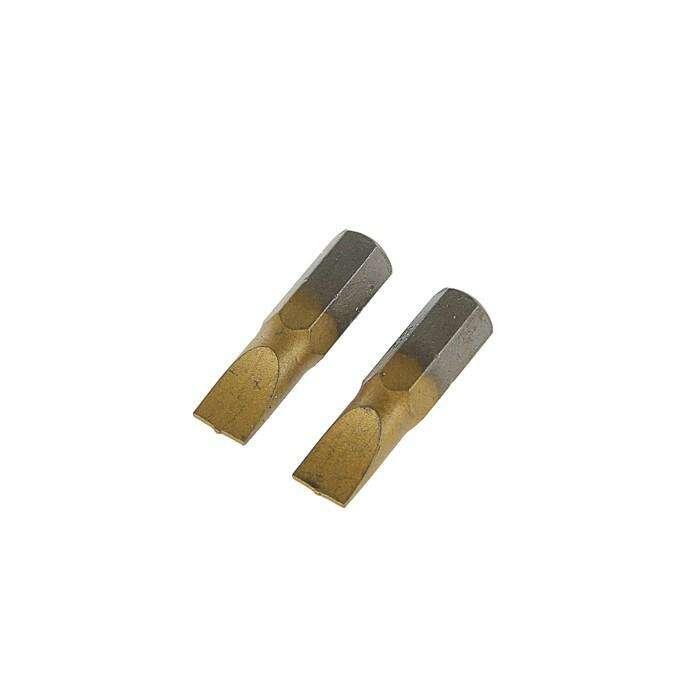 Набор бит TUNDRA premium, сталь S2, нитрид-титановое покрытие, 2 шт, 25 мм, SL6