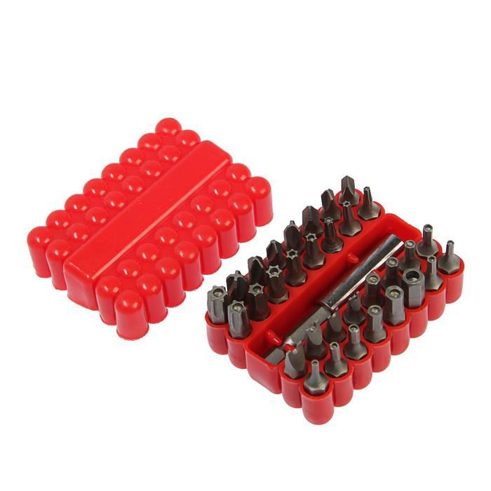 Адаптер с битами Top Tools, набор 33 шт., в удобном пластиковом кейсе