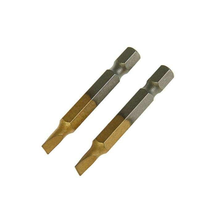 Набор бит TUNDRA premium, сталь S2, нитрид-титановое покрытие, 2 шт, 50 мм, SL4