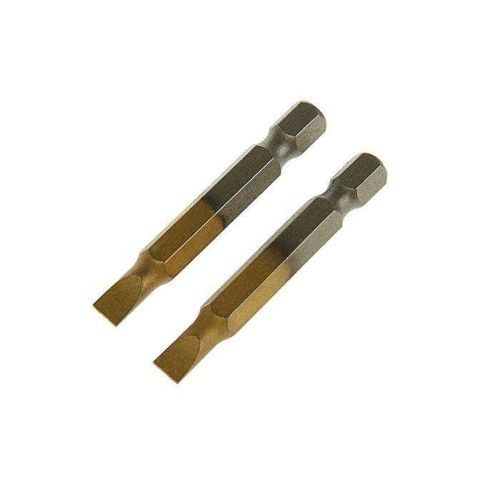 Набор бит TUNDRA premium, сталь S2, нитрид-титановое покрытие, 2 шт, 50 мм, SL5