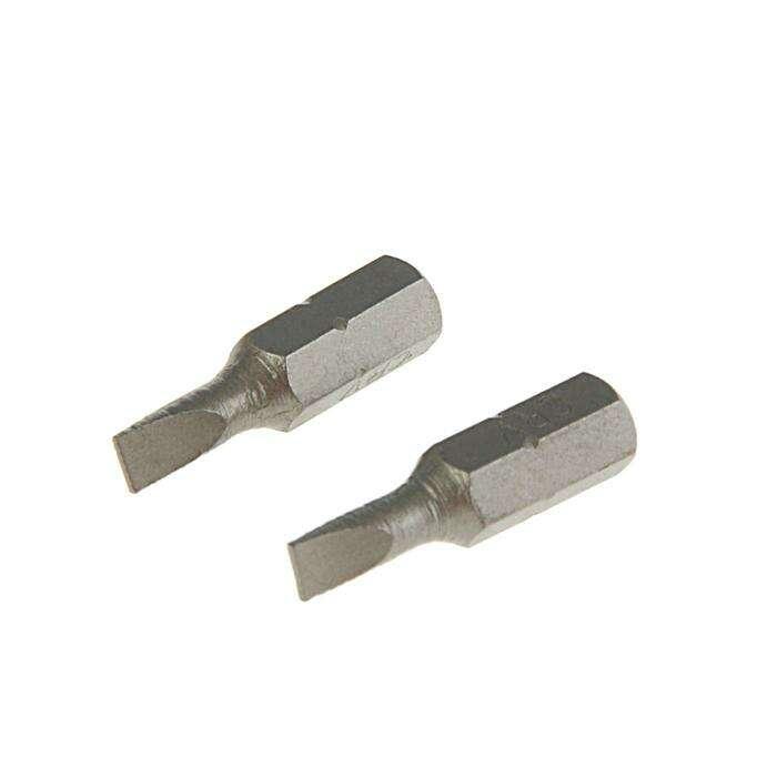 Набор бит  TUNDRA basic, сталь CrV, 2 шт, 25 мм, SL4