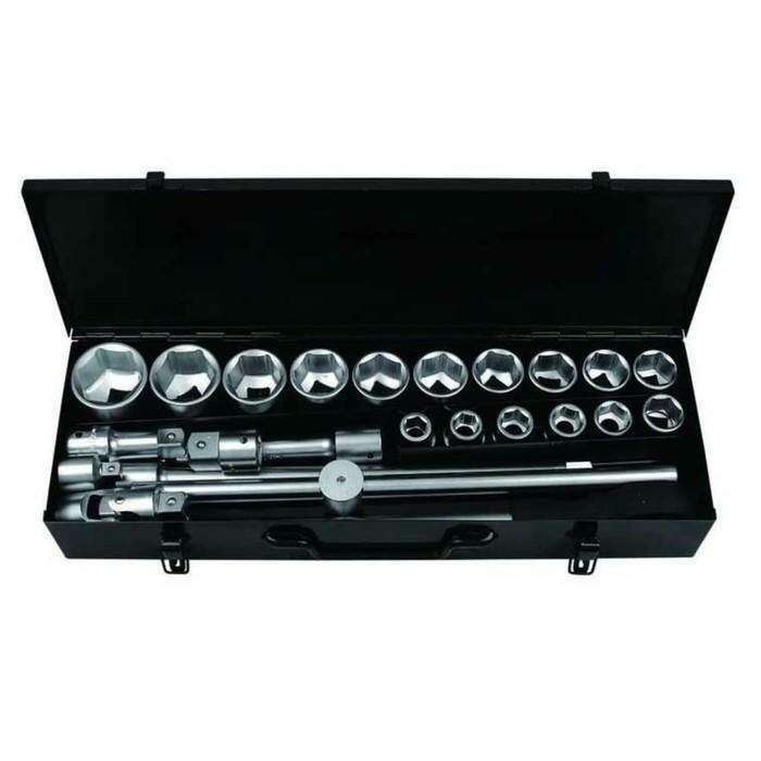 """Набор инструментов Forsage F-6241-5, 3/4"""", головки 6гр. 17-50 мм, 24 предмета, кейс"""